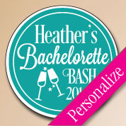Custom Bachelorette Bash Labels, Personalized Bachelorette Party Favors, Stickers