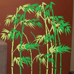 Bamboo Plants Floral Wall Decal Vinyl Wall Art