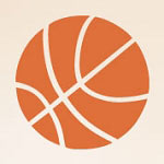 Basketball Shapes Sports Wall Decal