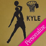 Basketball Wall Decal Sports Vinyl Wall Art Custom Sticker
