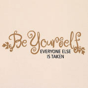 Be Yourself Wall Decal, Inspirational Kids Vinyl Wall Art
