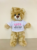 Flower Girl Gift Proposal Teddy Bear with Personalized Shirt, Will You Be My Flower Girl Wedding Keepsake