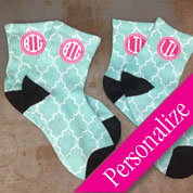 Sorority BIG LIL Sis Pattern Socks