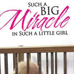 Big Miracle Nursery Vinyl Wall Decal