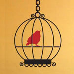 Bird Cage Wall Decal, Animal Vinyl Wall Art