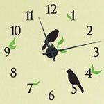 Bird Vinyl Wall Decal Clock