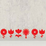 Blooming Flower Wall Decal Vinyl Wall Art