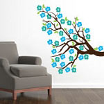 Flower Blossom Tree Branch Wall Decal, Vinyl Wall Art
