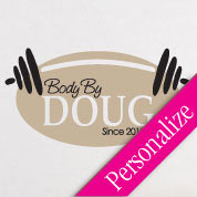 Body By Fitness Wall Decal, Gym Vinyl Wall Art