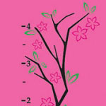 Tree Branch Growth Chart Kids Vinyl Wall Decal