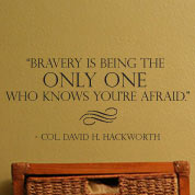 Bravery Wall Decal, Military Vinyl Wall Quote, Americana