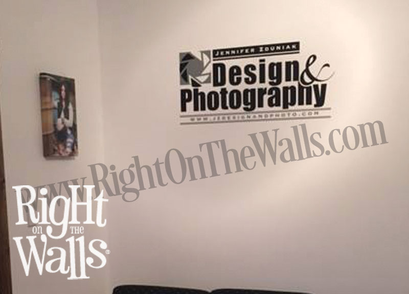 custom wall decal for business, company logo sticker