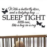 Butterfly Kisses Nursery Wall Quote Vinyl Saying