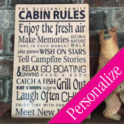 Custom Cabin Rules Metal Sign