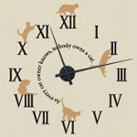 Cat Lover Vinyl Wall Decal Animal Clock