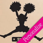 Cheerleader Custom Wall Decal Sports Vinyl Wall Art
