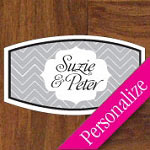 Chevron Personalized Dance Floor Decal, Wedding Dance Floor Sticker