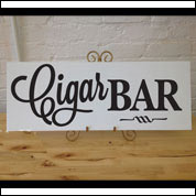 Cigar Bar Wedding Sign, Custom Table Sign