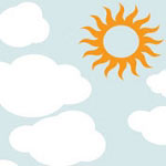 Clouds and Sun Kids Vinyl Wall Decal