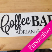 Coffee Bar Table Sign, Personalized Wedding Sign