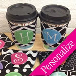 Custom Pattern Coffee Cup Cozy, Coffee Hugger