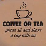 Coffee or Tea Kitchen Wall Decal