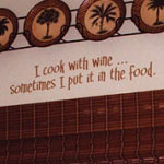 I Cook With Wine Kitchen Wall Decal