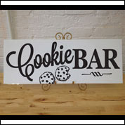 Cookie Bar Wedding Sign, Custom Table Sign
