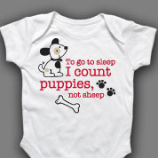 I Count Puppies Not Sheep Onesie or T-shirt