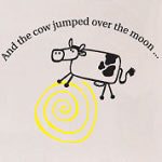 The Cow Jumped Nursery Vinyl Wall Decal