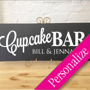 Cupcake Bar Table Sign, Personalized Wedding Sign