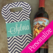 Custom Text Wine Tote (Single Bottle)