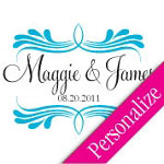 Decorative Personalized Dance Floor Decal, Wedding Dance Floor Sticker