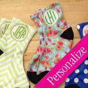 Designer Monogram Socks, Unique Socks Gift Idea, Personalized Socks