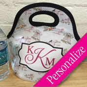 Monogrammed Lunch Bag, Custom Lunch Tote, Personalized Lunch Box