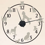 Dog Vinyl Wall Decal Animal Clock