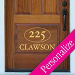 Door Name Custom Wall Decal