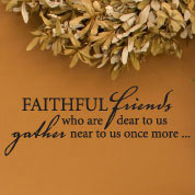 Faithful Friends Wall Decal, Holiday Vinyl Wall Art, Wall Decor