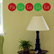 FaLaLaLaLa Holiday Wall Decal, Vinyl Wall Art, Wall Decor