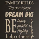 Family Rules Vinyl Wall Decal, Family Vinyl Wall Art