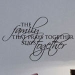 Family That Prays Vinyl Wall Decal, Family Vinyl Wall Art