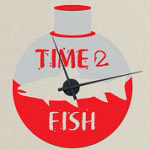 Fishing Vinyl Wall Decal Clock