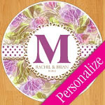 Floral Lace Personalized Dance Floor Decal, Wedding Dance Floor Sticker