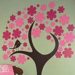 Flower Tree Wall Decal Vinyl Wall Art