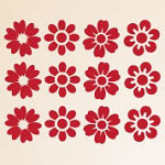 Flower Wall Decals Vinyl Wall Art Stickers