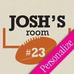 Football Door Sign Wall Decal, Sports Vinyl Wall Art