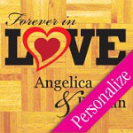 Forever Personalized Dance Floor Decal, Wedding Dance Floor Sticker
