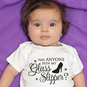Glass Slipper Cinderella Princess Baby Onesie or T-shirt