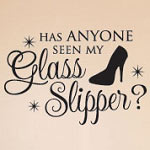 Glass Slipper Princess Wall Decal, Kids Vinyl Wall Art