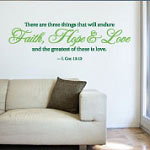 Greatest Love Holiday Wall Decal, Family Vinyl Wall Art